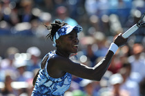 Venus Williams in action in the third round of the US Open.