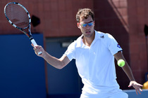 Poland's Jerzy Janowicz in his second-round match on Day 5 of the 2014 US Open.