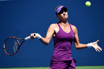 Mirjana Lucic-Baroni of Croatia defeated No. 2 Simona Halep in the third round of the 2014 US Open.