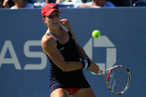 No. 22 Alize Cornet in third-action on Day 5 of the 2014 US Open.