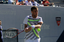 Slovakia's Martin Klizan in second-round action on Day 5 of the 2014 US Open.