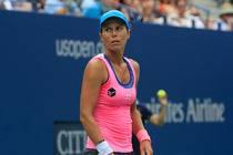 Varvara Lepchenko in action on Day 6 of the 2014 US Open.