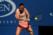 No. 11 Flavia Pennetta in action on Day 6 of the 2014 US Open.