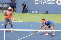 Taylor Townsend and Donald Young battle in second-action action on the Grandstand on Day 7.