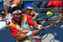 No. 4 seed David Ferrer takes on Gilles Simon for a spot in the round of 16 on Day 7 at the Open.