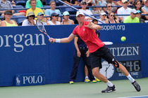 No. 18 Kevin Anderson faces off against Marin Cilic of Croatia on Day 7 in Grandstand.
