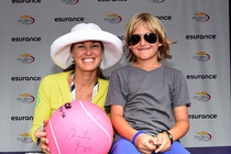 Martina Hingis signing autograph for fans on Day 7 of the 2014 US Open.