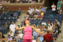 Belinda Bencic takes on No. 9 seed Jelena Jankovic in the fourth round in Arthur Ashe Stadium.